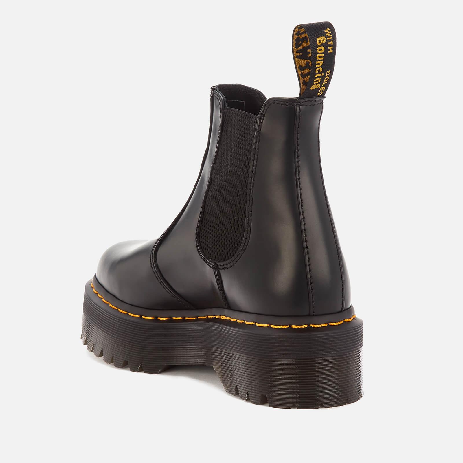 Dr. Martens 2976 Quad Polished Smooth Leather Chelsea Boots - Black - Uk 9