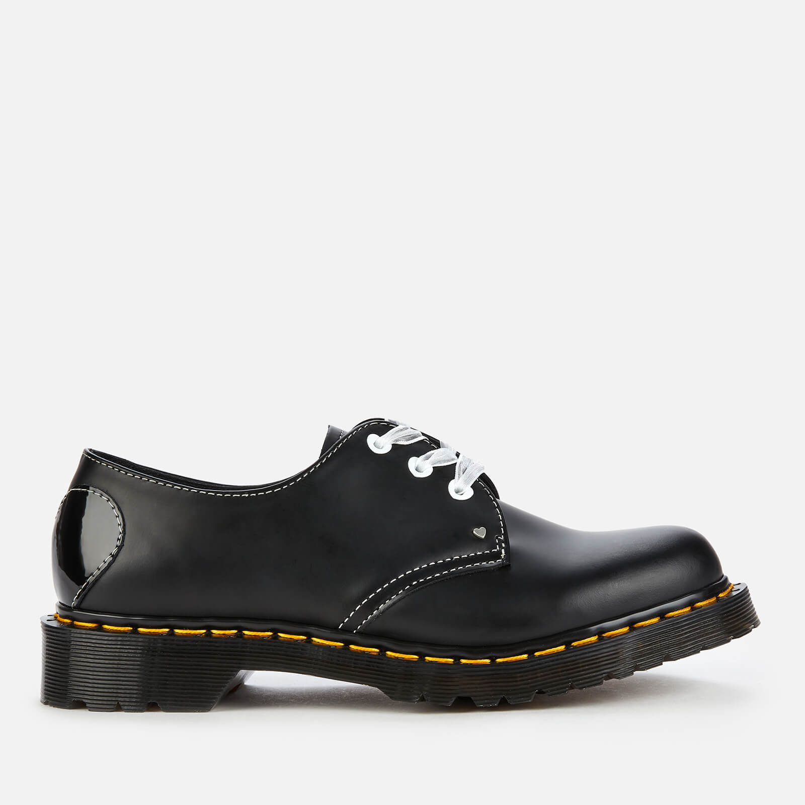 Dr. Martens Women's 1461 Hearts Smooth Leather 3-Eye Shoes - Black - UK 3