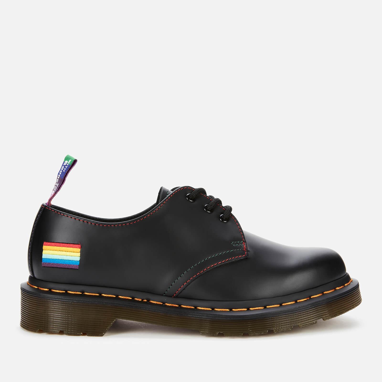 Dr. Martens 1461 Pride Smooth Leather 3-Eye Shoes - Black - UK 6