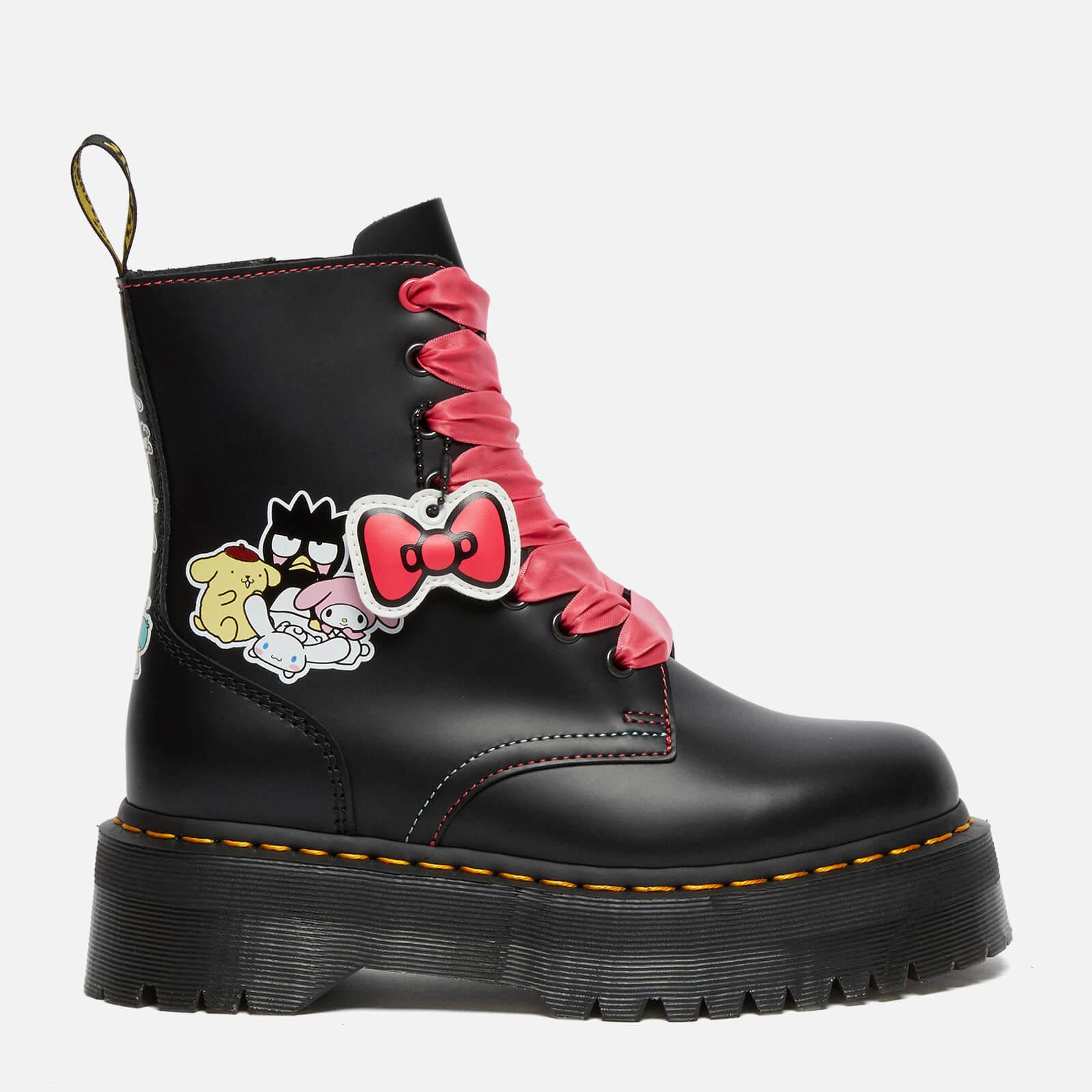 Dr. Martens X Hello Kitty Women's Jadon Leather Boots - Black - Uk 3