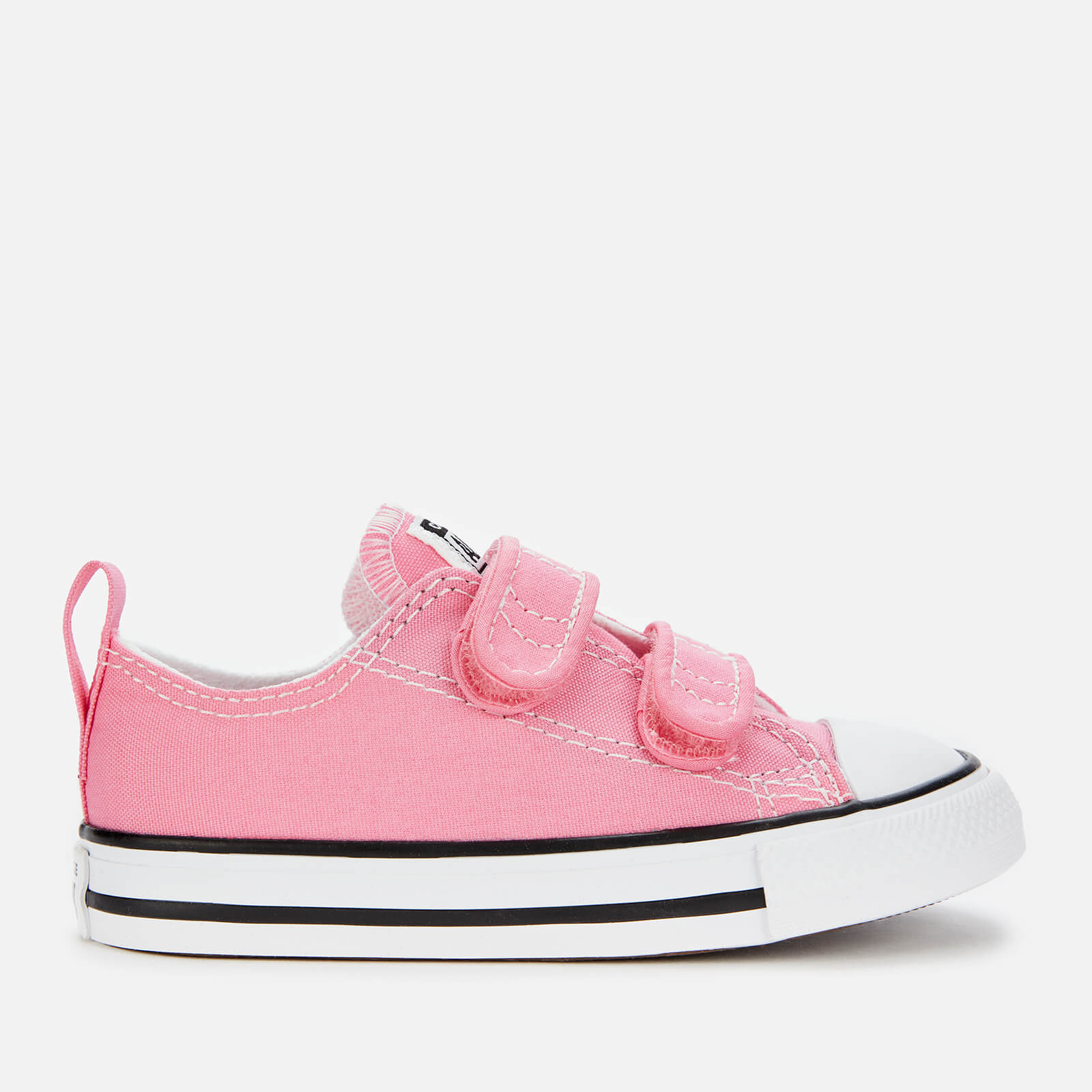 Converse Toddlers' Chuck Taylor All Star Ox Velcro Trainers - Pink - UK 4 Baby