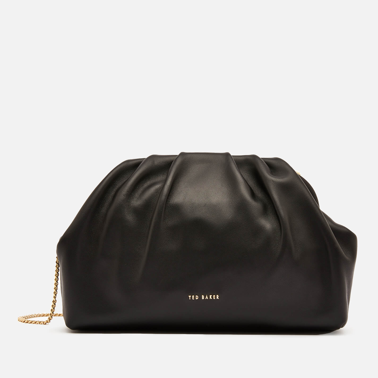 Ted Baker Women's Abyoo Gathered Leather Clutch Bag - Black