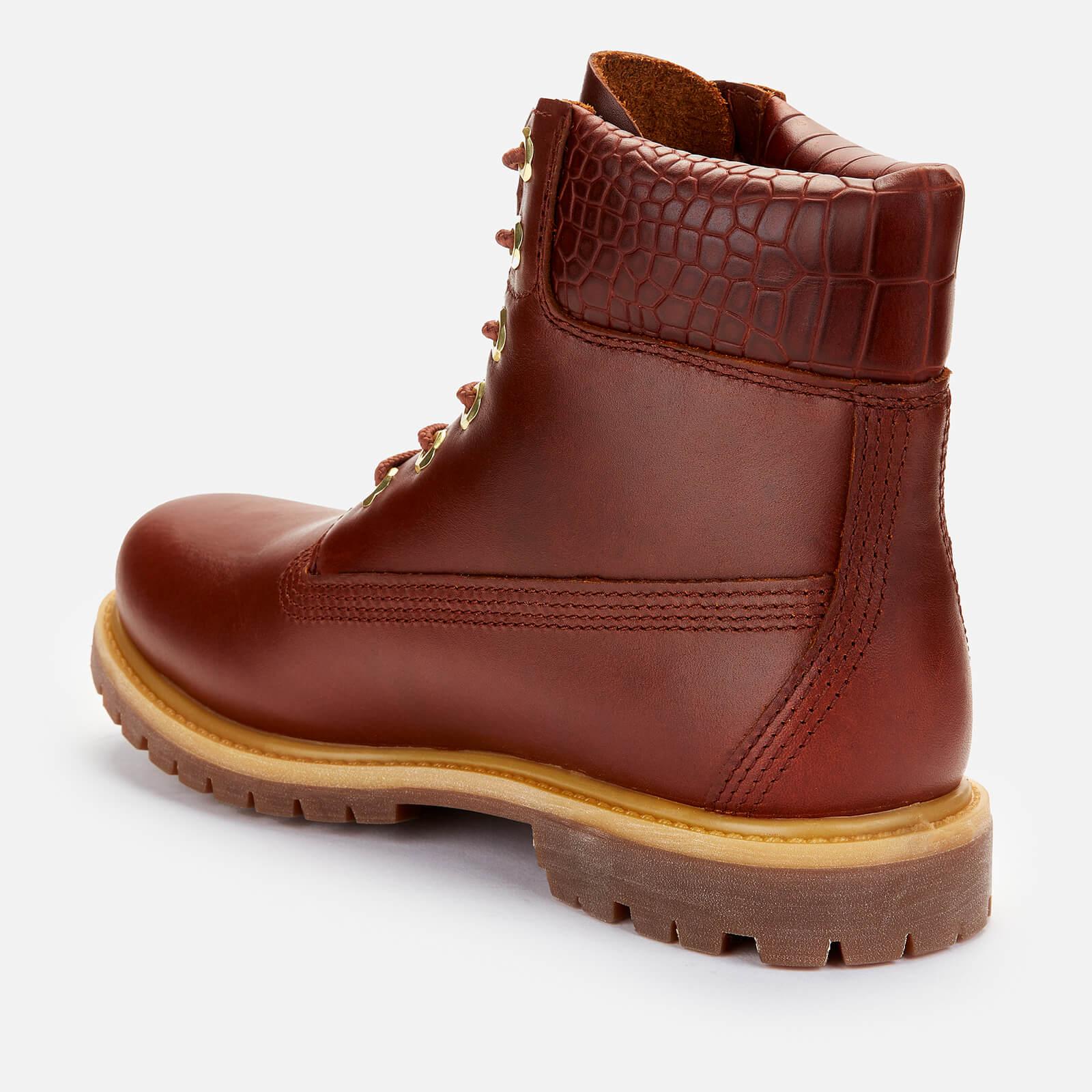 Timberland Women's 6 Inch Nubuck Premium Boots - Medium Brown/Croc - Uk 3