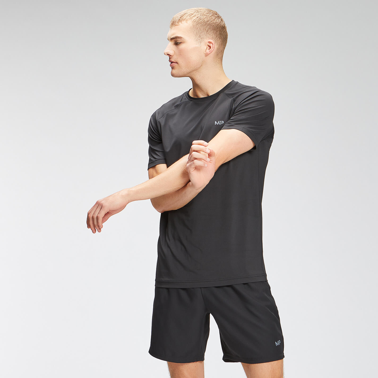Купить MP Men's Repeat Graphic Training Short Sleeve T-Shirt - Black - XXXL, Myprotein International