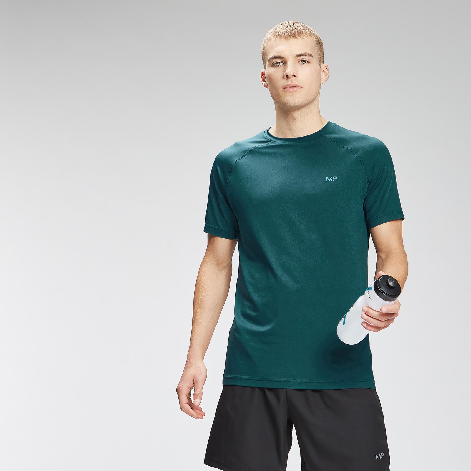 Купить MP Men's Repeat Graphic Training Short Sleeve T-Shirt - Deep Teal - XXS, Myprotein International