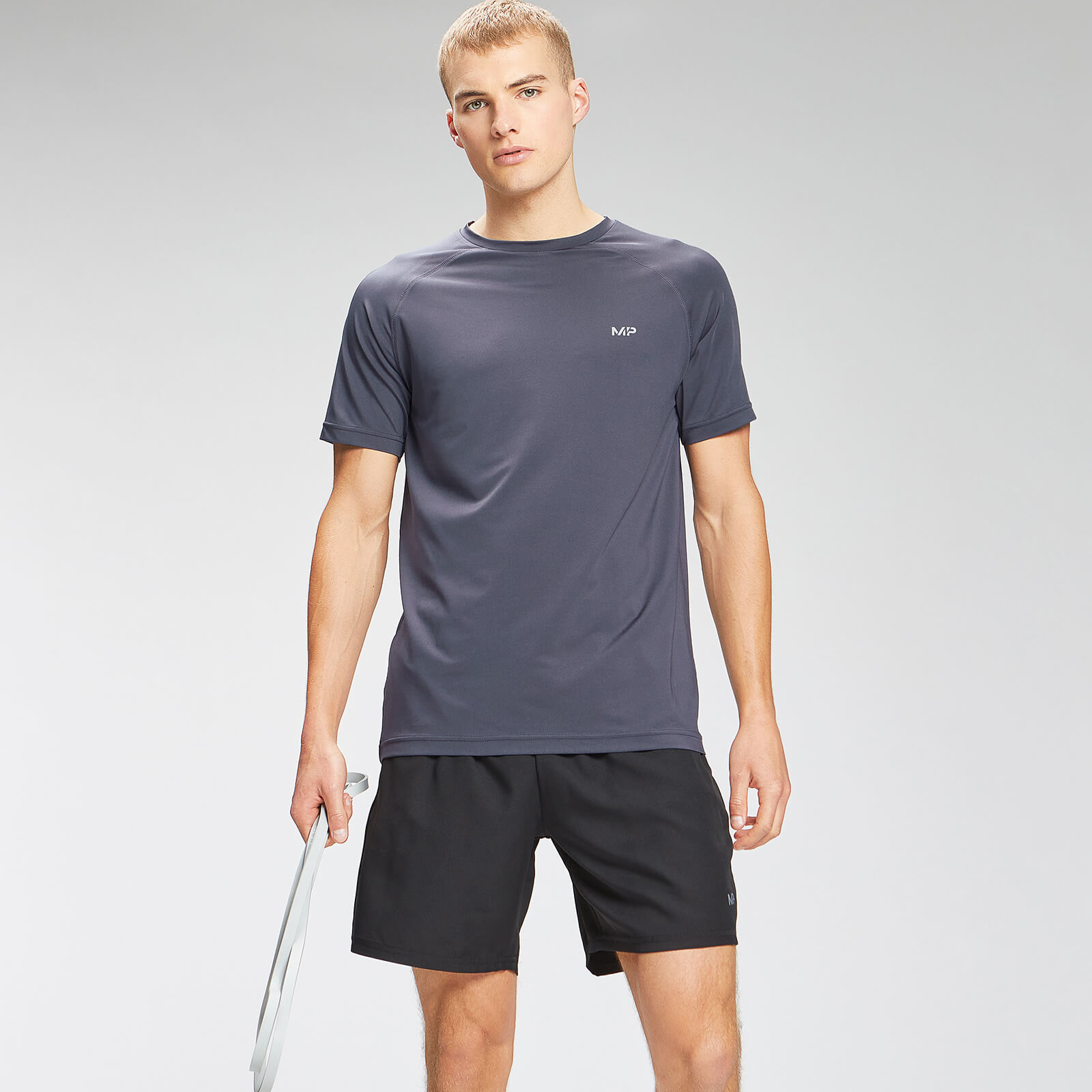 Купить MP Men's Repeat Graphic Training Short Sleeve T-Shirt - Graphite - XXXL, Myprotein International