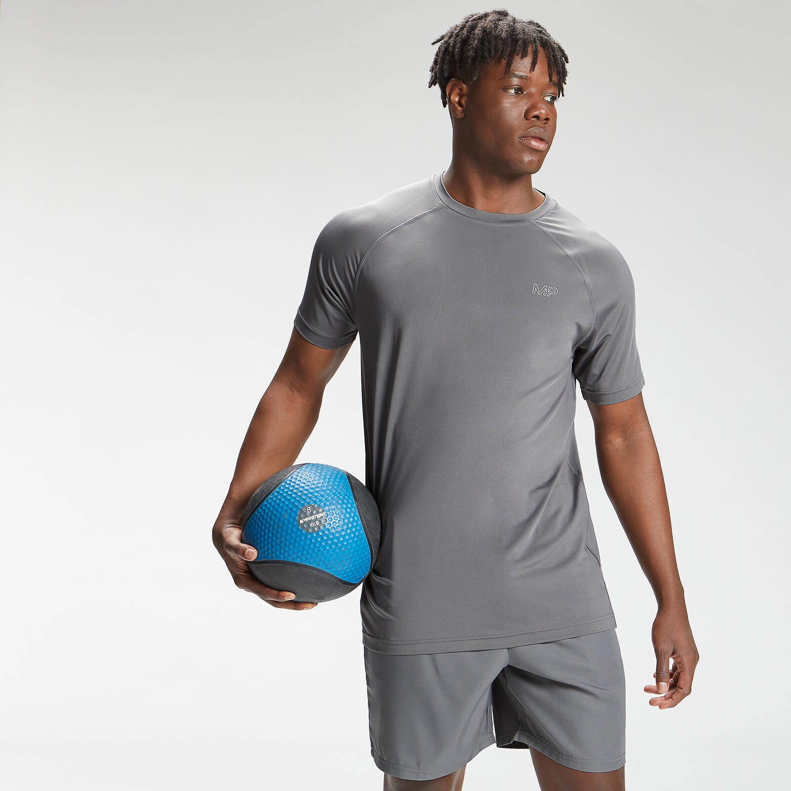 Купить MP Men's Repeat Mark Graphic Training Short Sleeve T-Shirt - Carbon - XXXL, Myprotein International