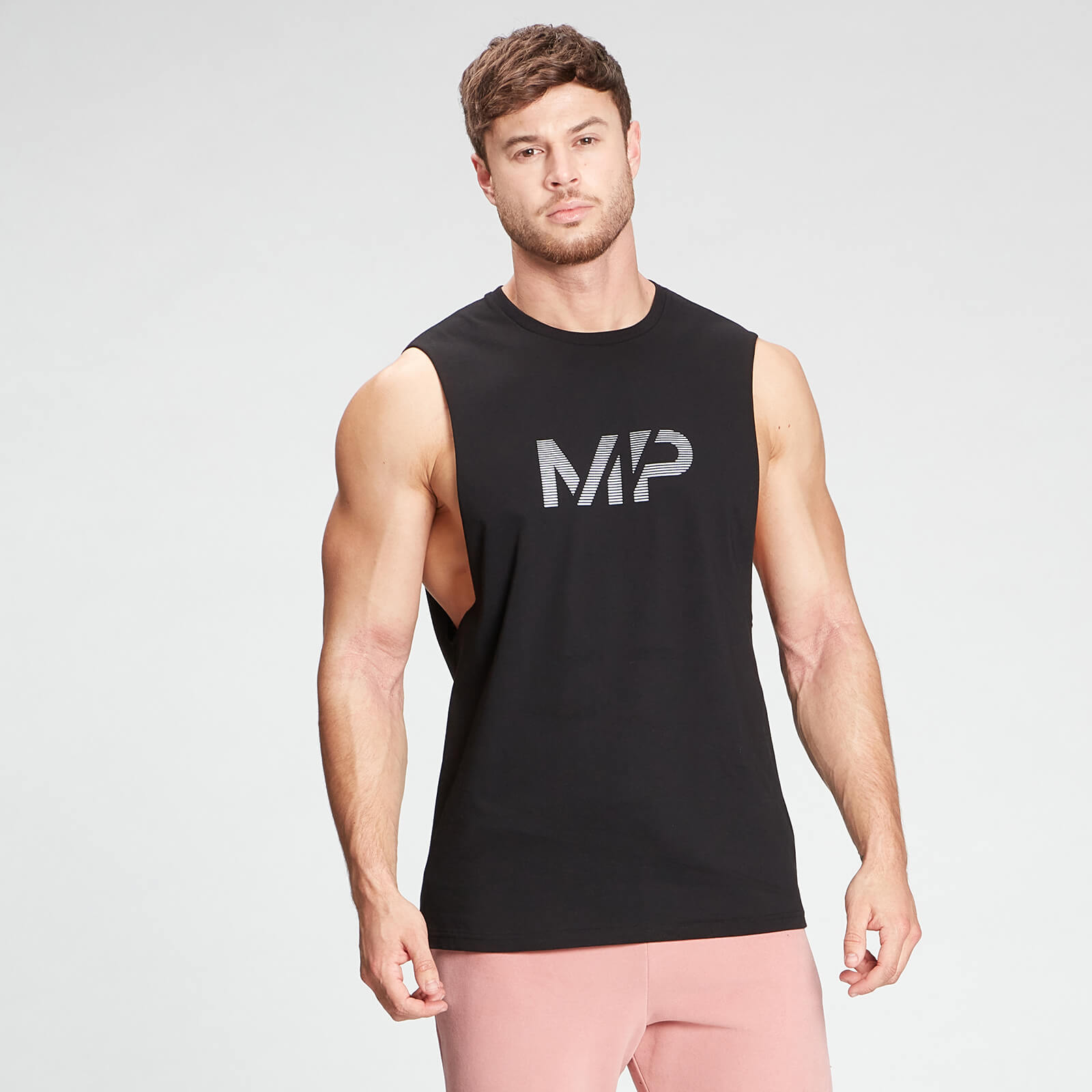 Купить MP Men's Gradient Line Graphic Tank Top - Black - M, Myprotein International