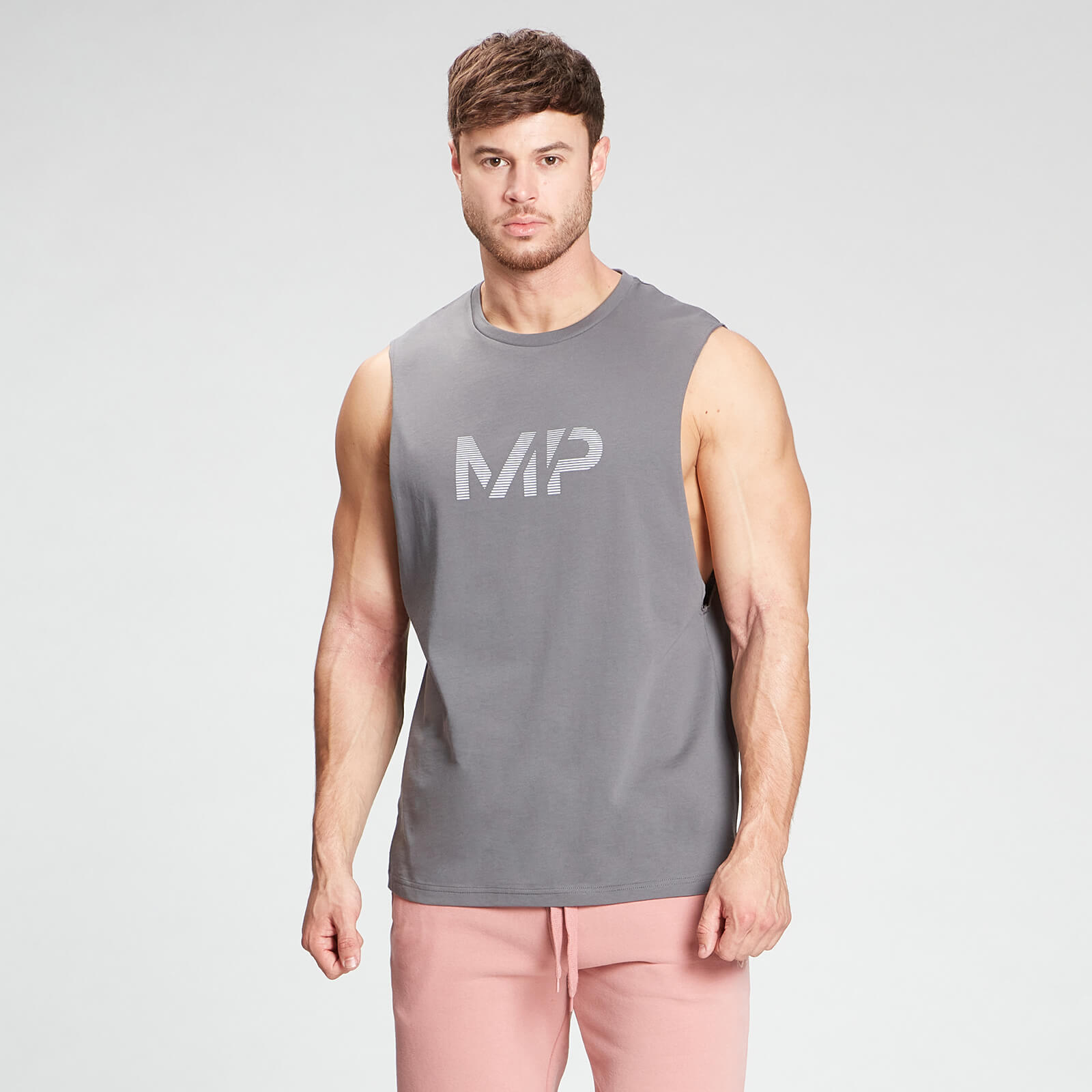 Купить MP Men's Gradient Line Graphic Tank Top - Carbon - S, Myprotein International