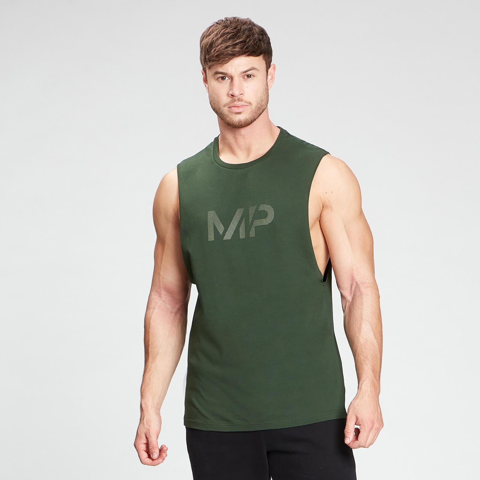 Купить MP Men's Gradient Line Graphic Tank Top - Dark Green - XL, Myprotein International