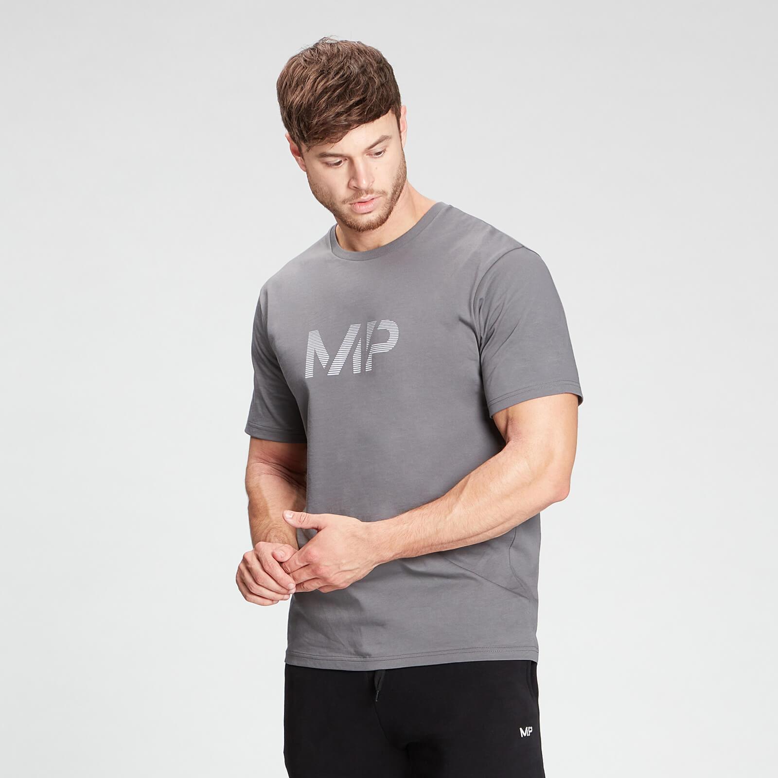 Купить MP Men's Gradient Line Graphic Short Sleeve T-Shirt - Carbon - XXXL, Myprotein International