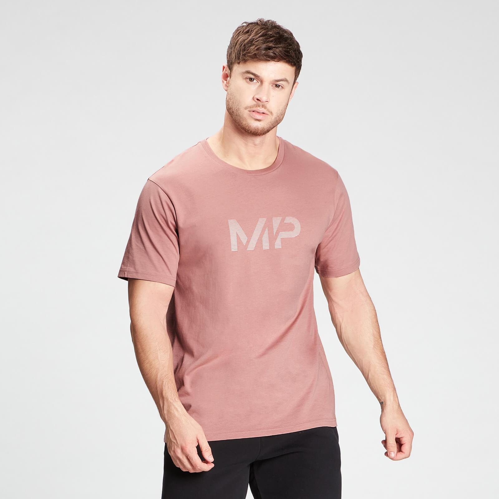 Купить MP Men's Gradient Line Graphic Short Sleeve T-Shirt - Washed Pink - XXL, Myprotein International