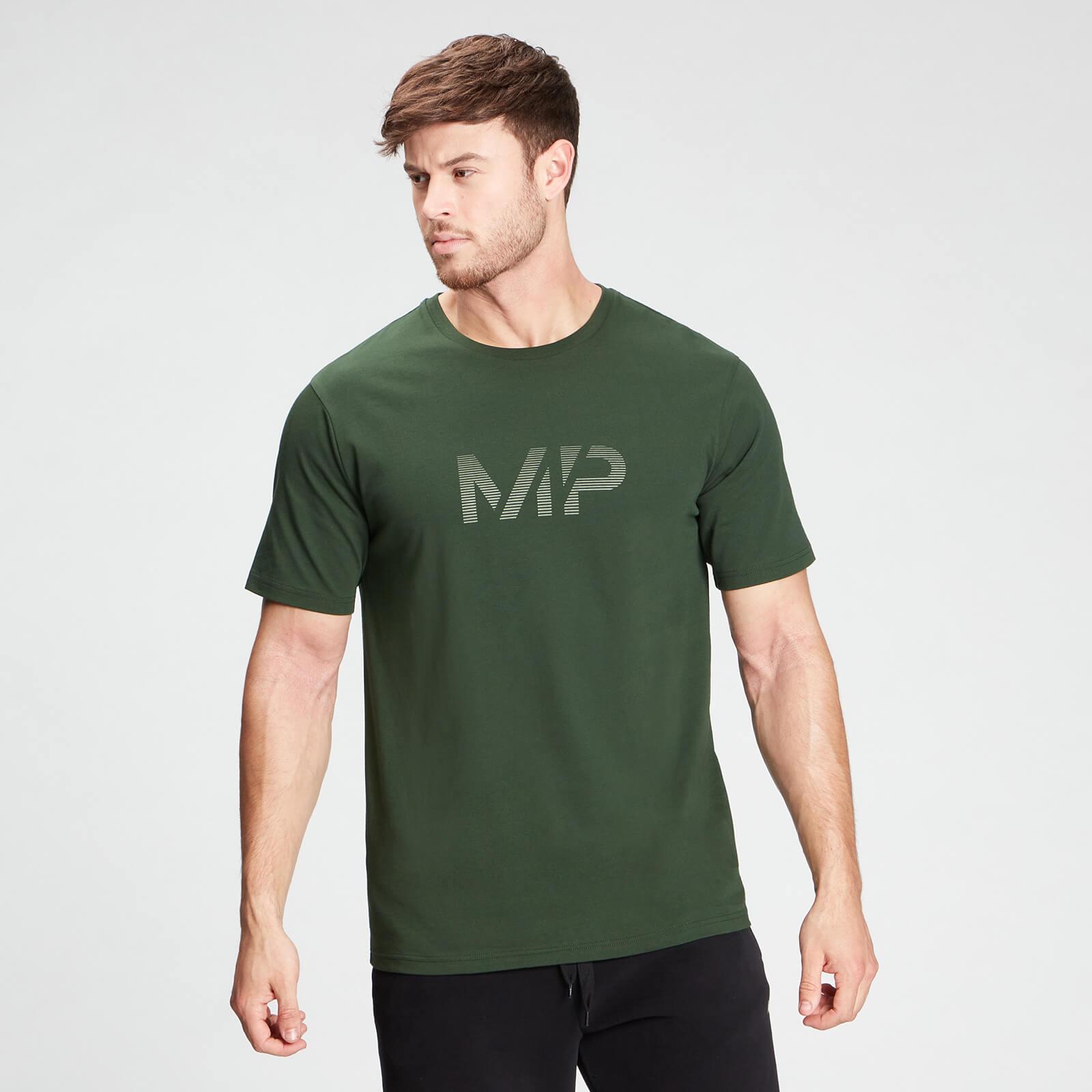 MP Men's Gradient Line Graphic Short Sleeve T-Shirt - Dark Green - XXL, Myprotein International  - купить со скидкой