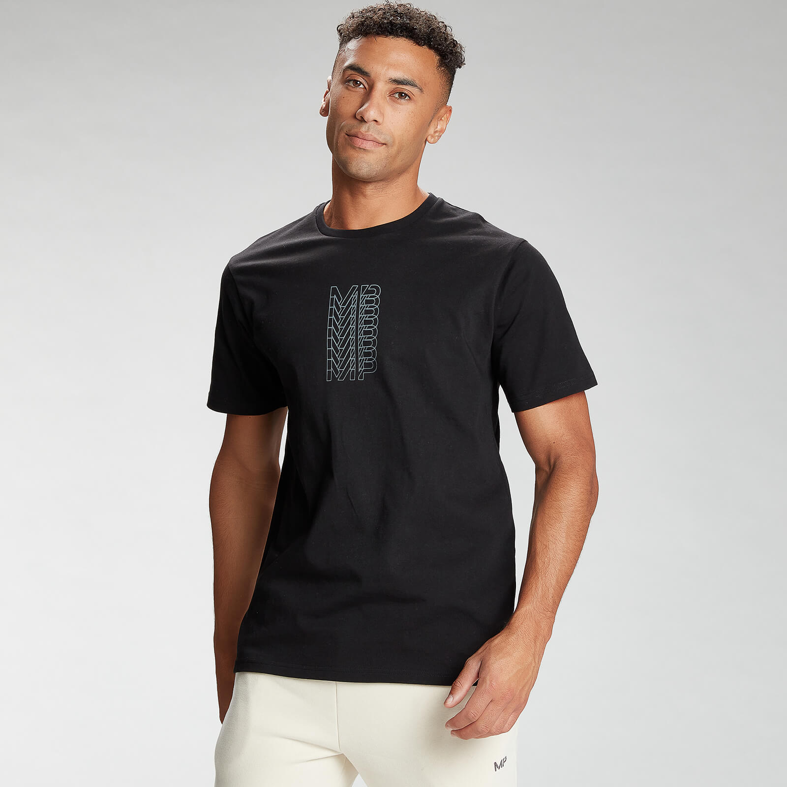 Купить MP Men's Repeat MP Graphic Short Sleeve T-Shirt - Black - XS, Myprotein International