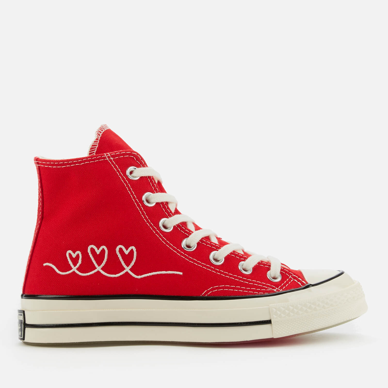 Converse Chuck 70 Love Thread Hi-Top Trainers - University Red - UK 10