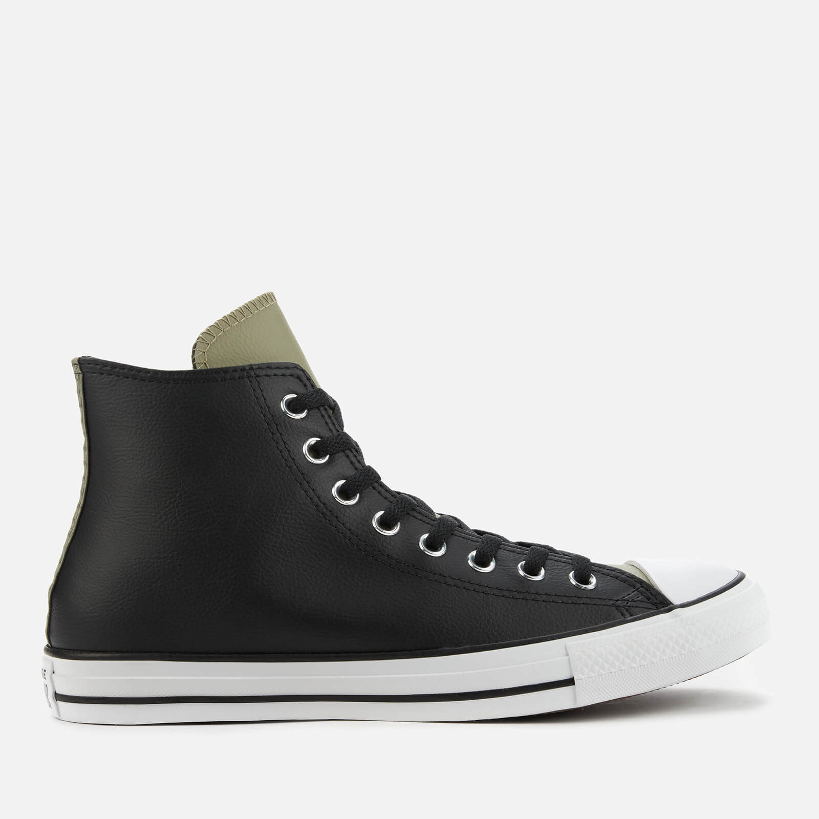 Converse Men's Chuck Taylor All Star Synthetic Leather Hi-Top Trainers - Black/Field Surplus - UK 11