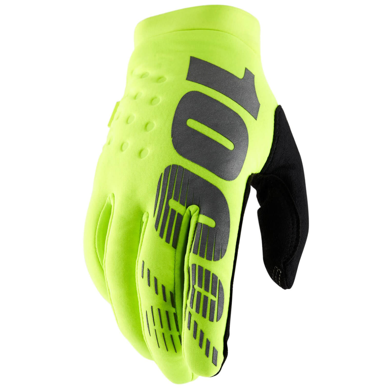 Image of 100% Brisker Cold Weather Gloves - Fluro Yellow / Black / Small