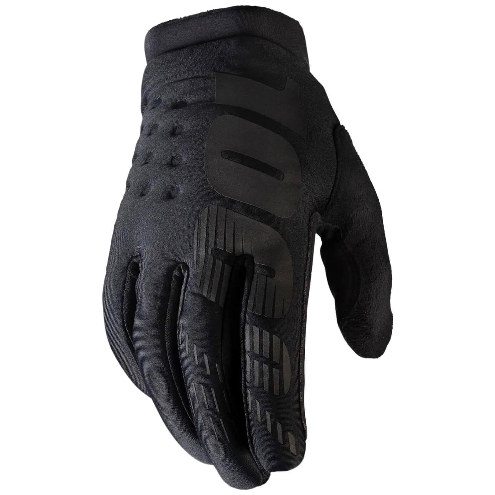 Image of 100% Brisker MTB Gloves - M - Black/Grey