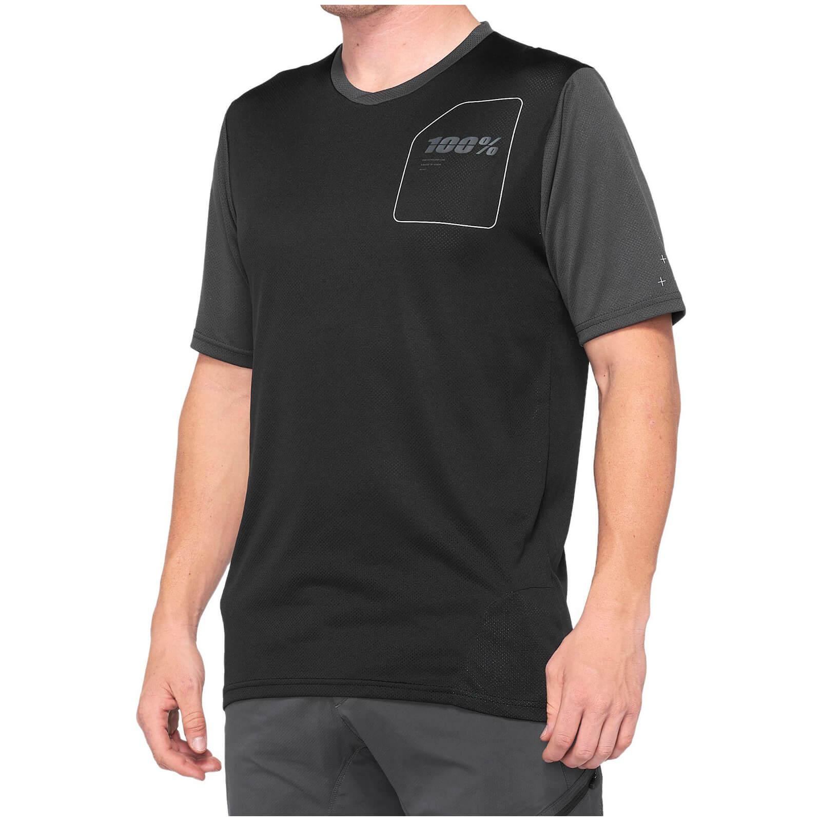 100% Ridecamp MTB Jersey - XL - Charcoal/Black