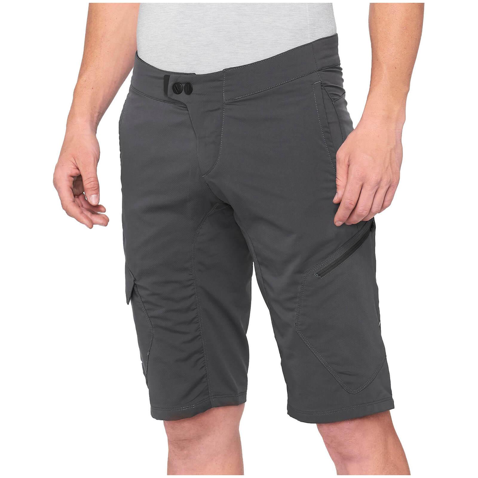 100% Ridecamp MTB Shorts - 36 - Charcoal