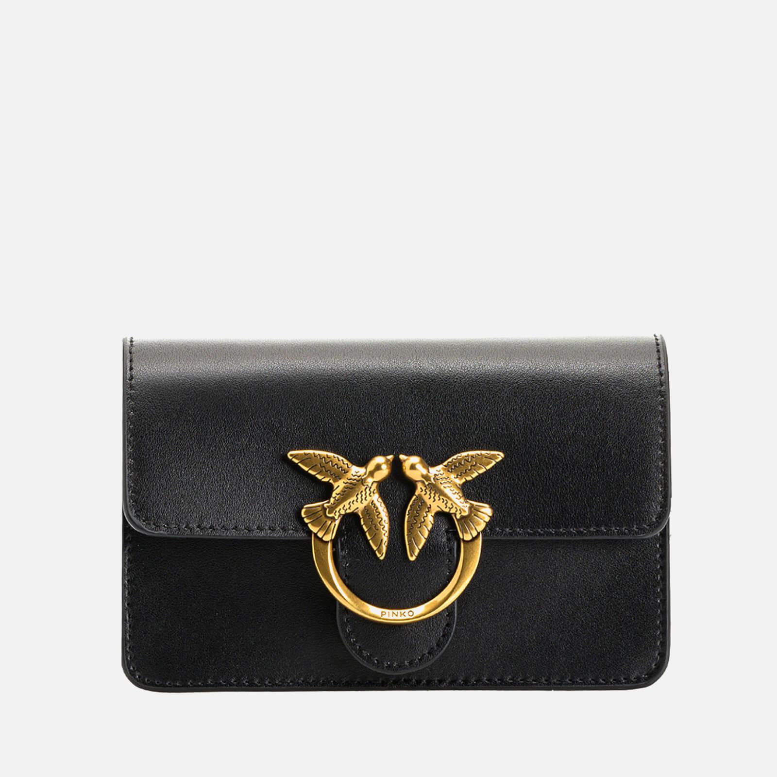 pinko women's love baby icon simply shoulder bag - black