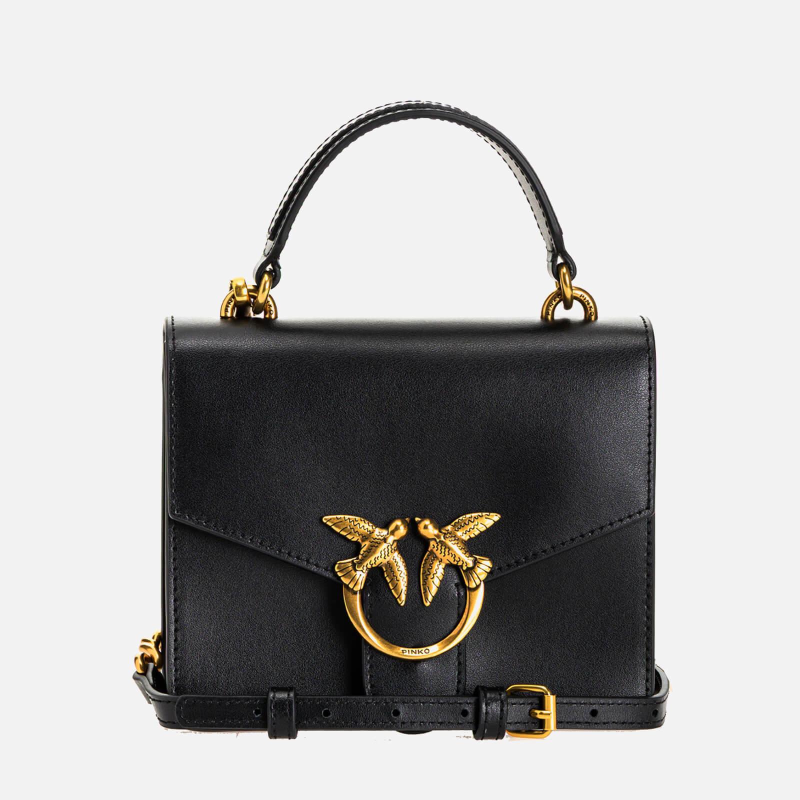 pinko women's love mini top handle bag - black