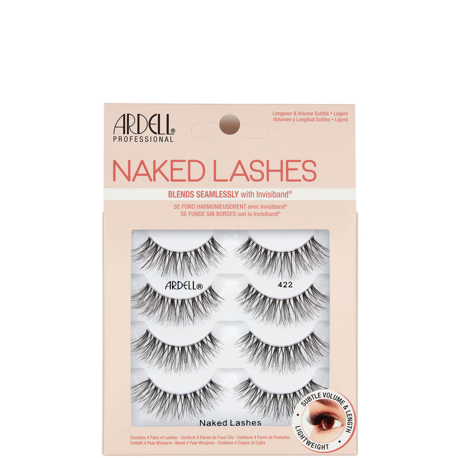 Ardell Lashes NAKED LASH 422 (4 PACK)