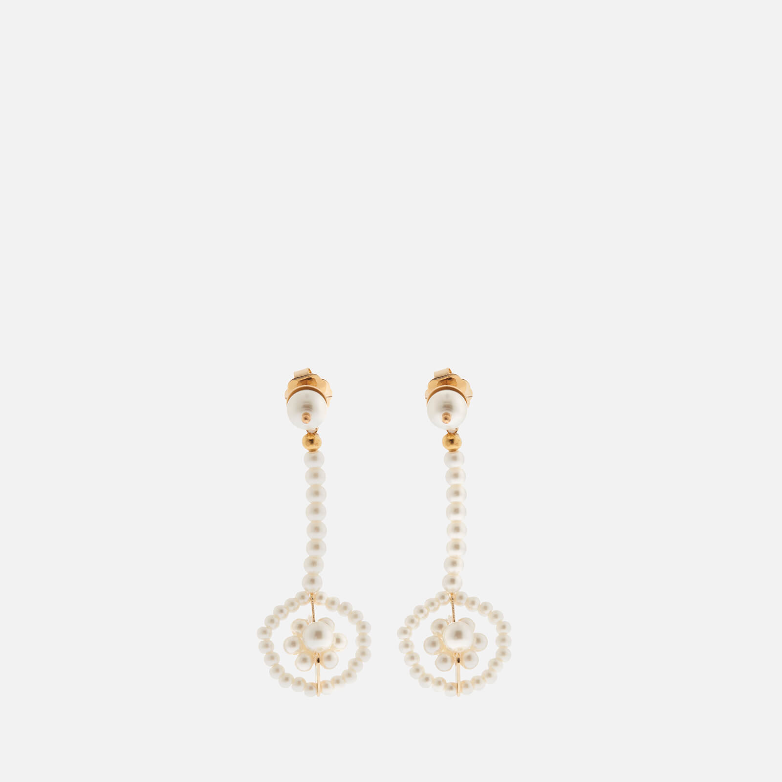 Shrimps Women's Viola Faux Pearl Earrings - Cream