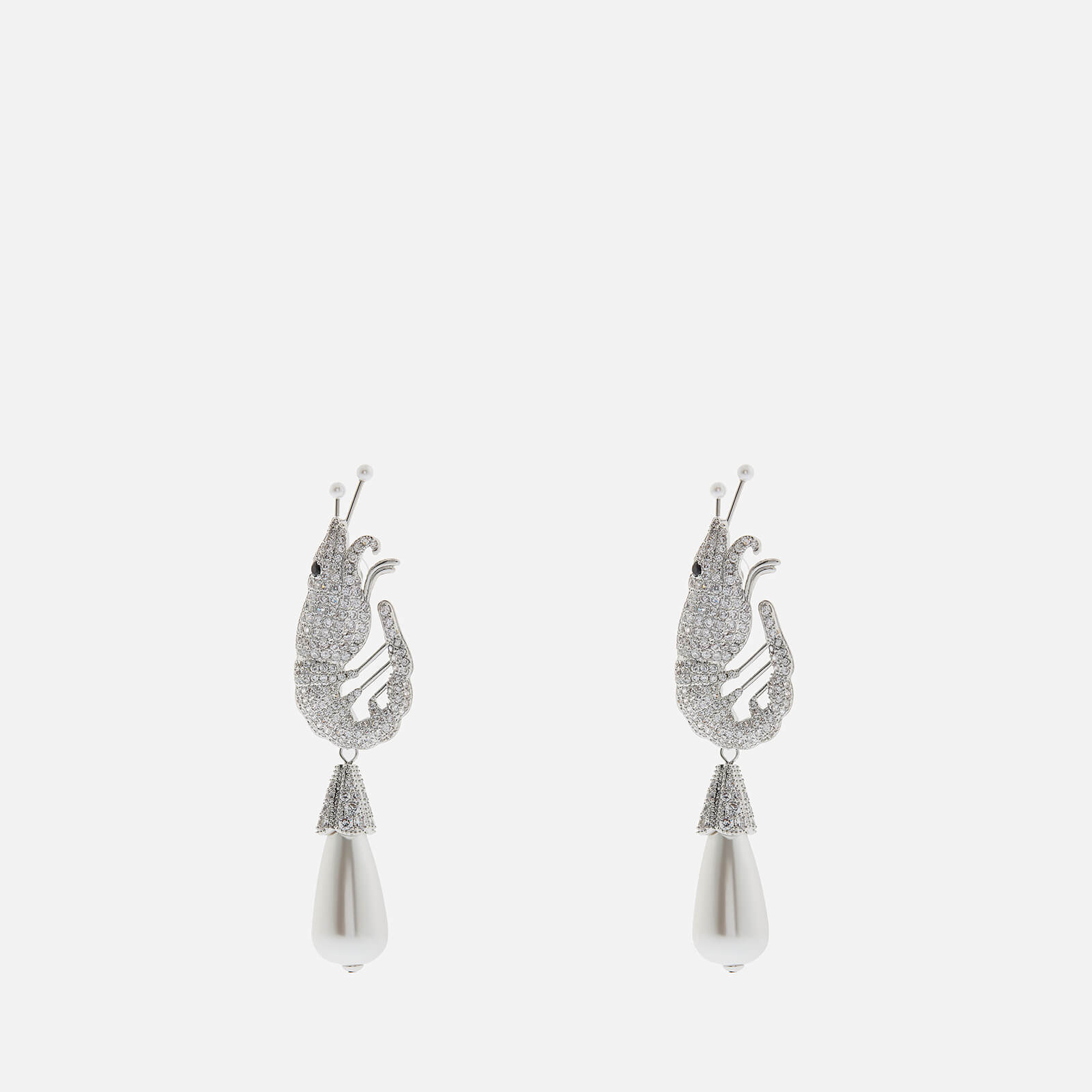 Shrimps Women's Shrimp Crystal Earrings - Cream & Silver