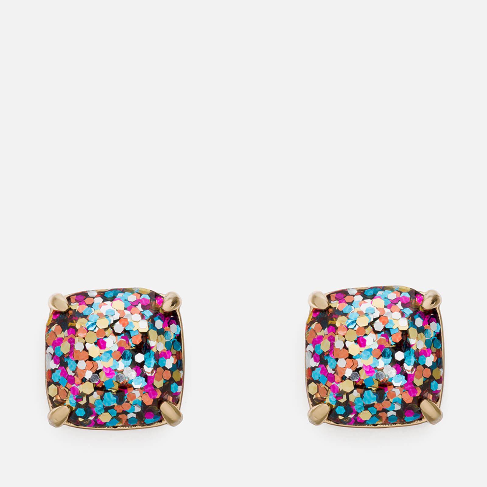 Kate Spade New York Women's Small Square Studs - Multi Glitter