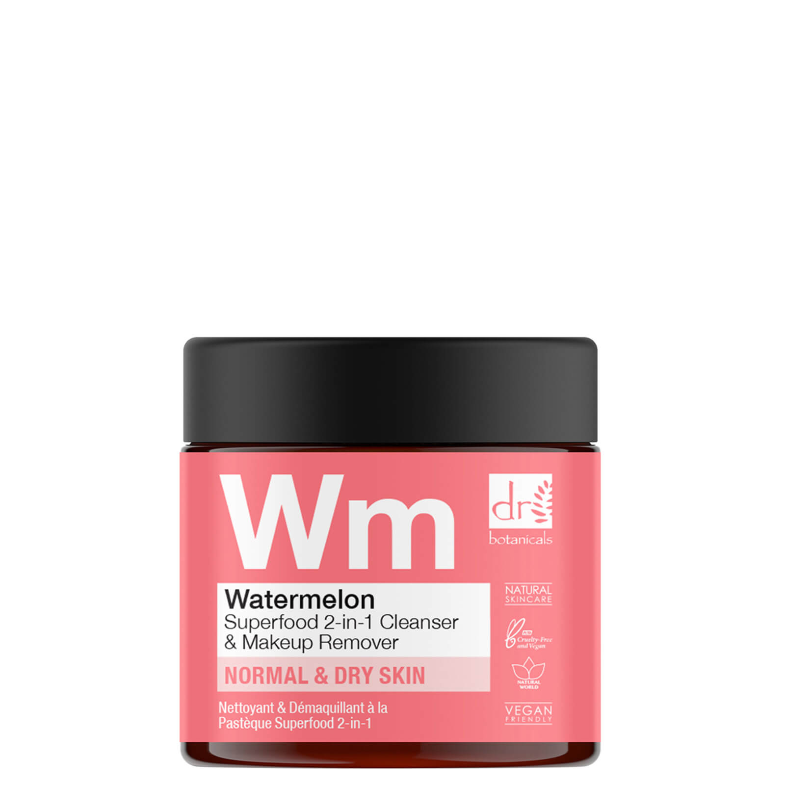Купить Очищающее средство 2-в-1 и средство для снятия макияжа с арбузом Dr Botanicals 60 мл