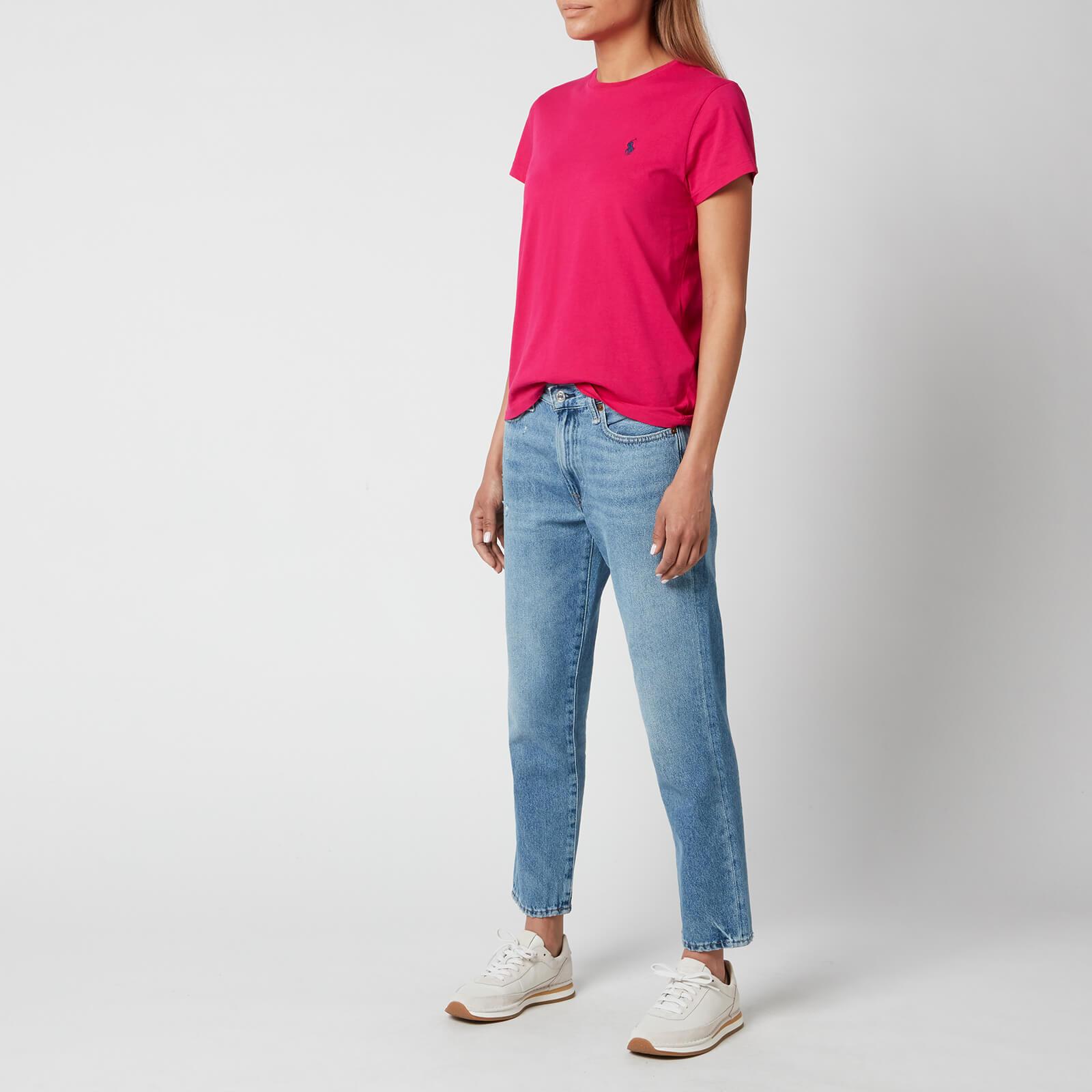 polo ralph lauren women's logo t-shirt - sport pink - s