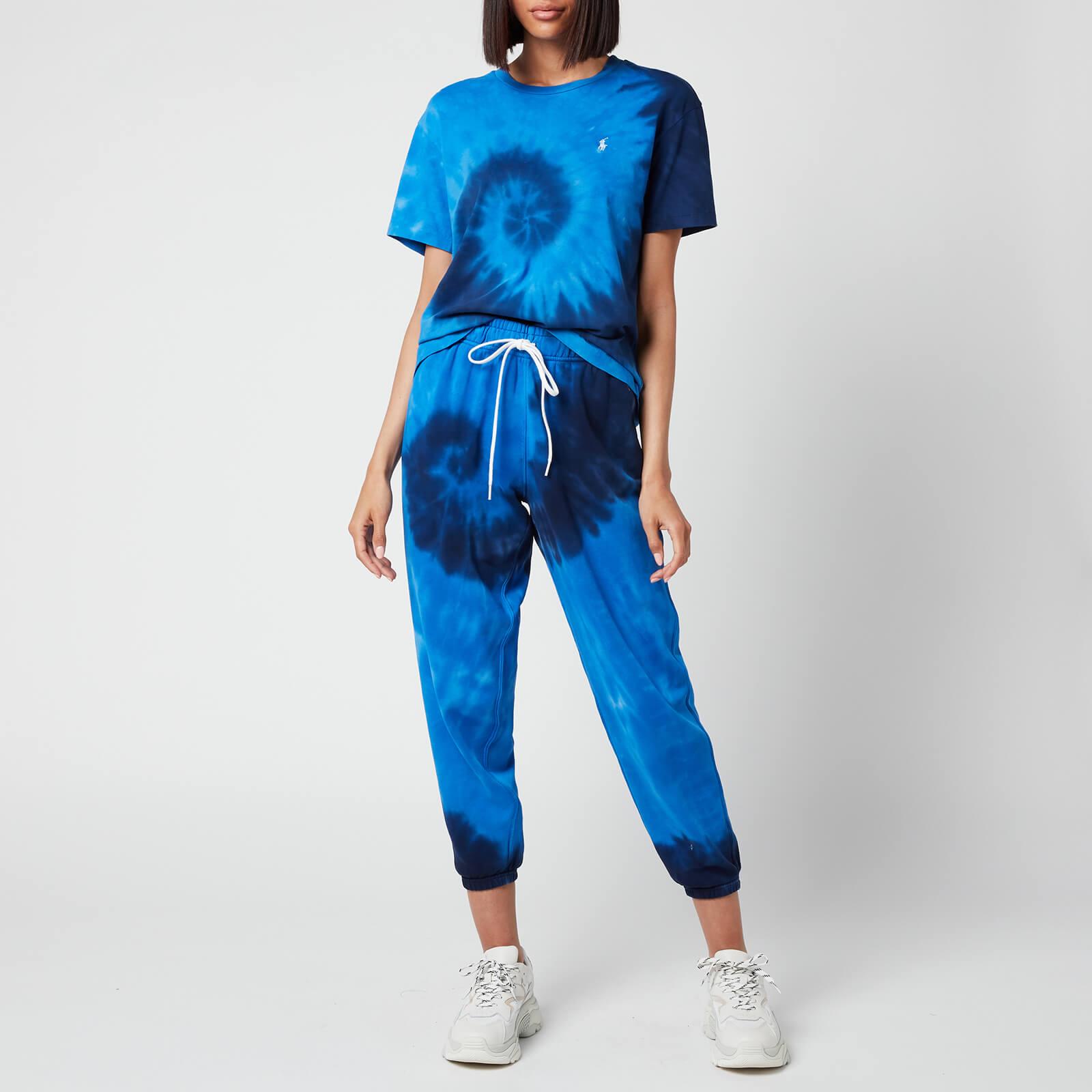 polo ralph lauren women's tie dye sweatpants - blue ocean - xs