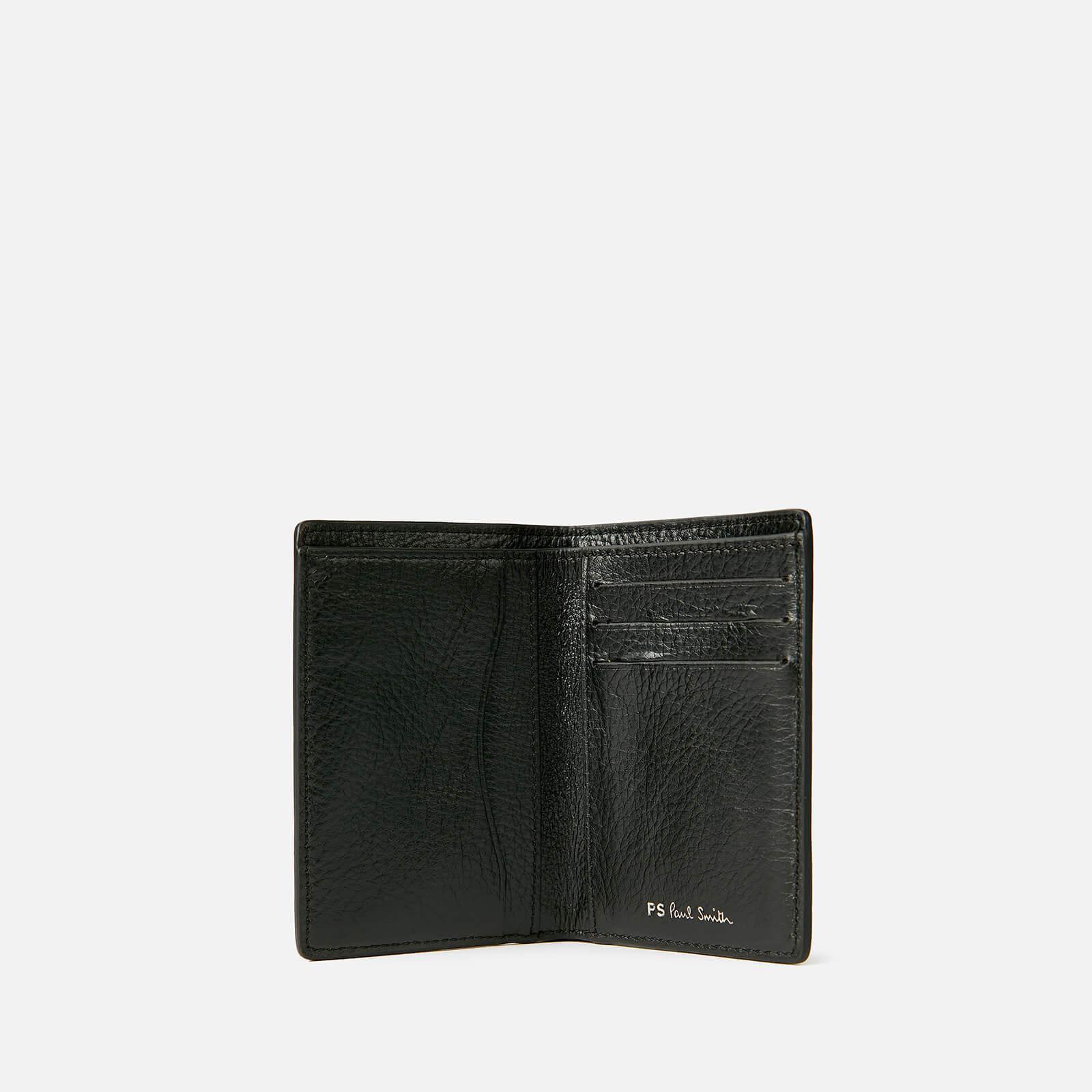 ps paul smith men's stripe credit card wallet - black