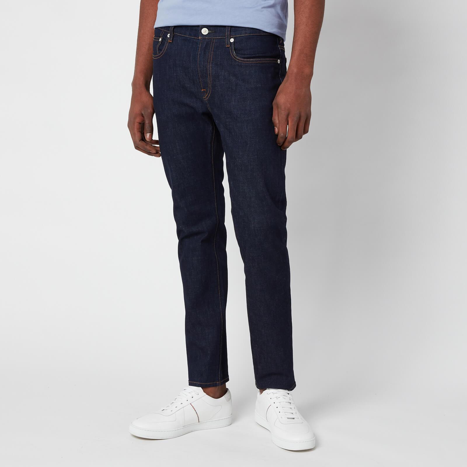 Ps Paul Smith Men's Slim Fit Short Jeans - Dark Blue - W34