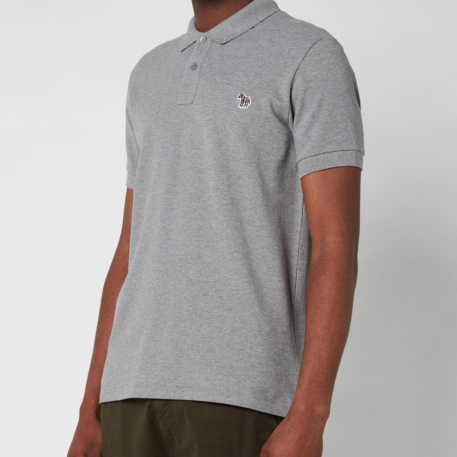 PS Paul Smith Men's Slim Fit Zebra Logo Polo Shirt - Melange - XXL