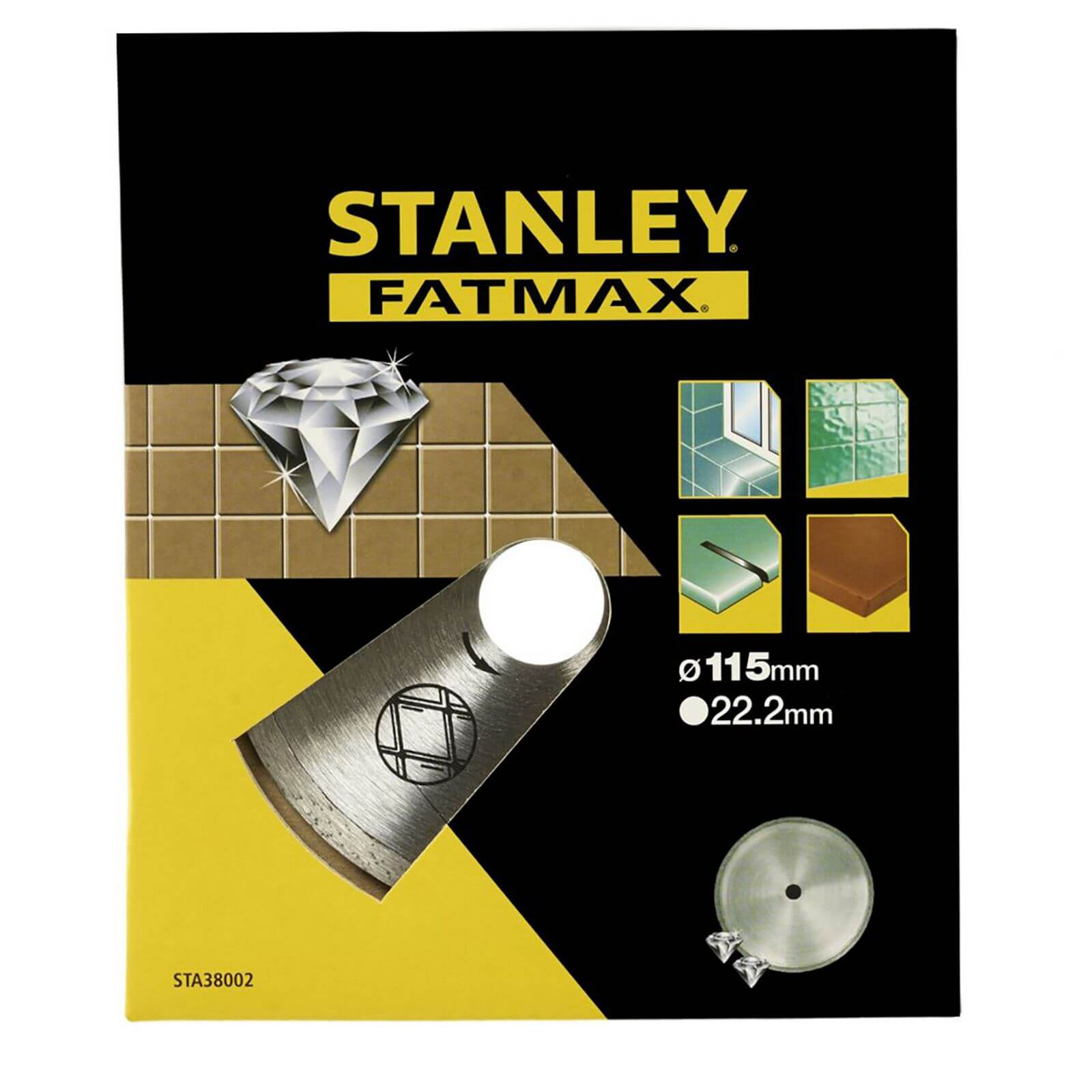 Stanley Fatmax Diamond Disc 115mm Cont Rim - STA38002-XJ