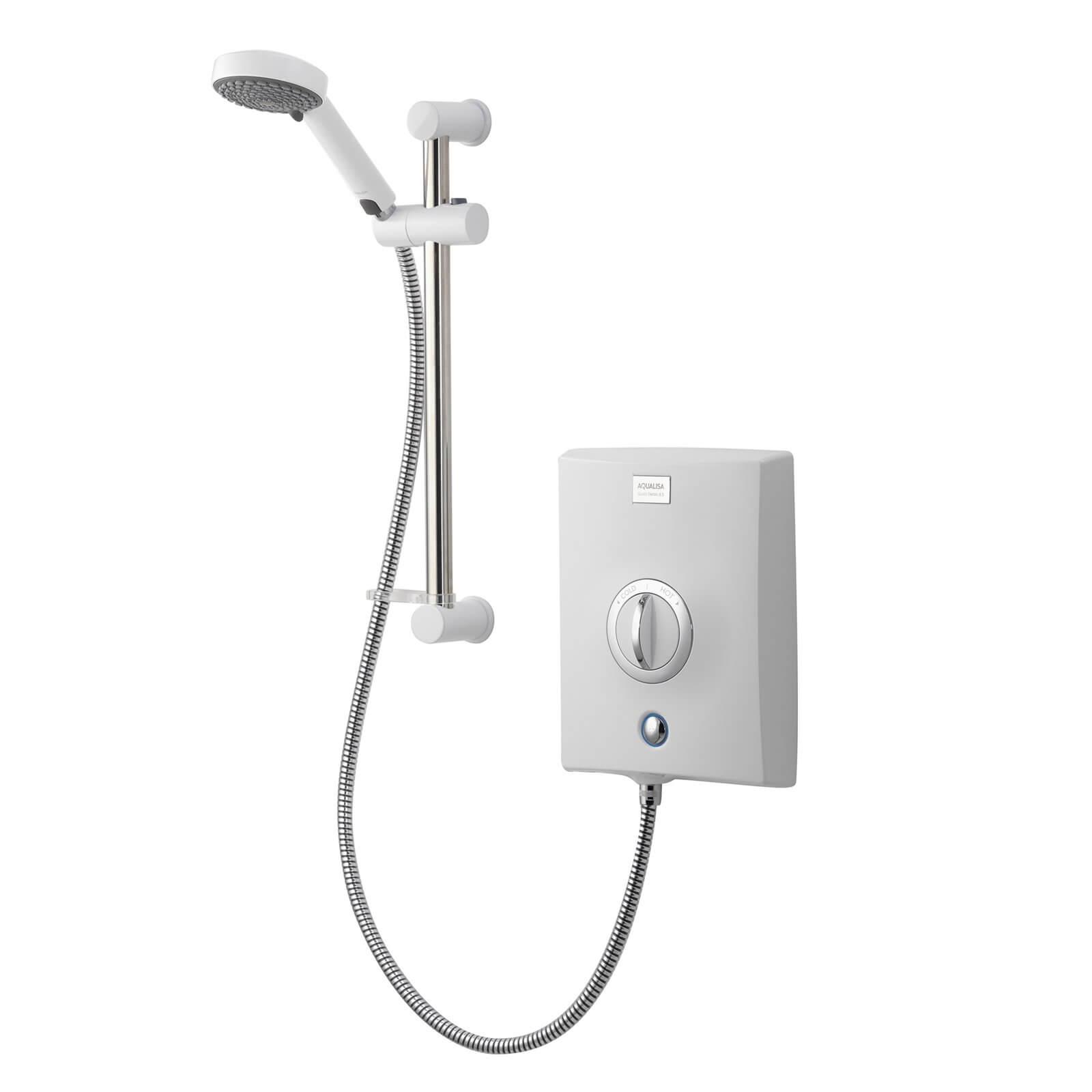 Aqualisa Quartz 8.5kW Electric Shower - White/Chrome