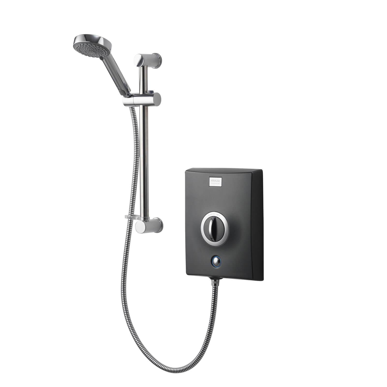Aqualisa Quartz 8.5kW Electric Shower - Graphite/Chrome