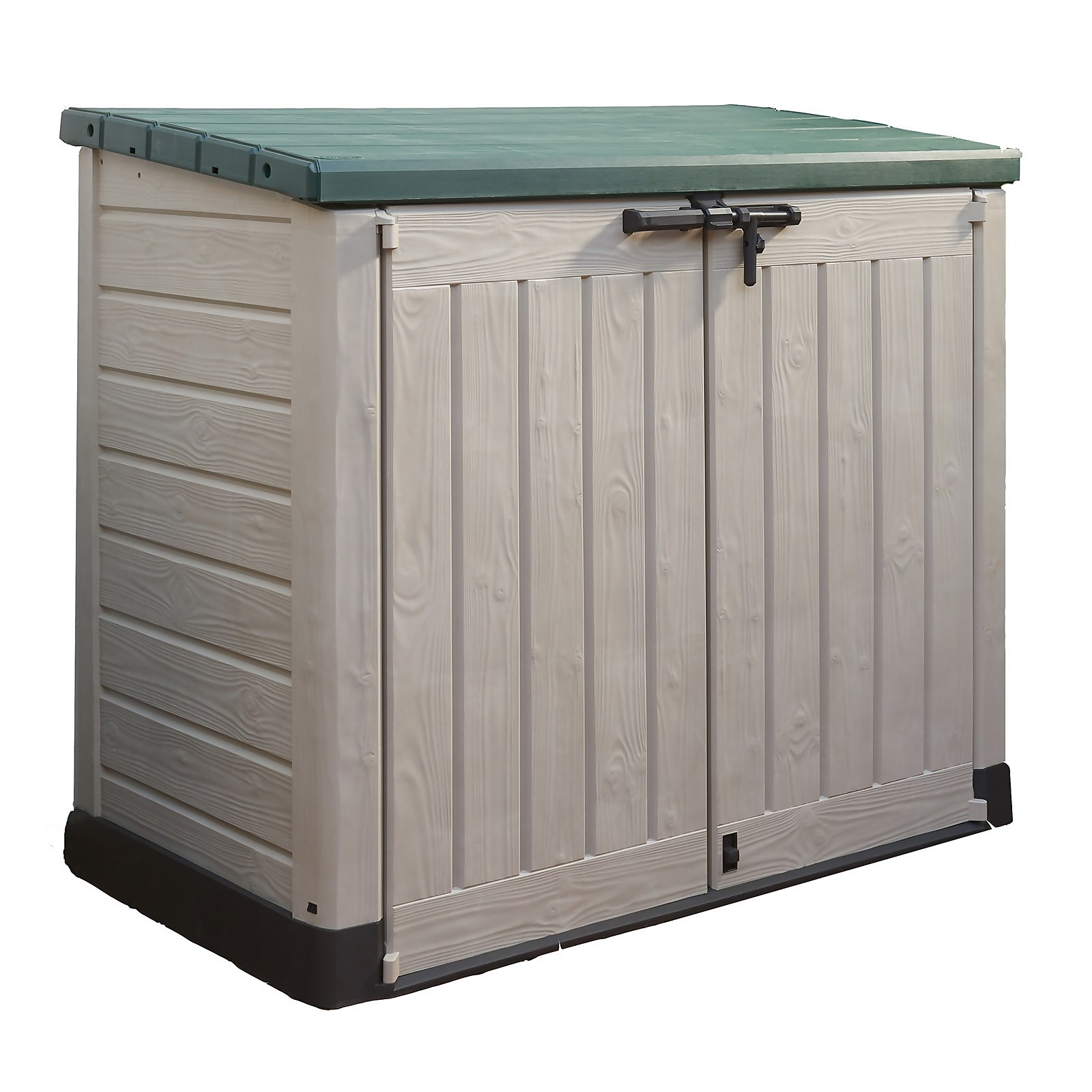 Keter Store It Out Max Outdoor Plastic Garden Storage 1200L - Beige & Green