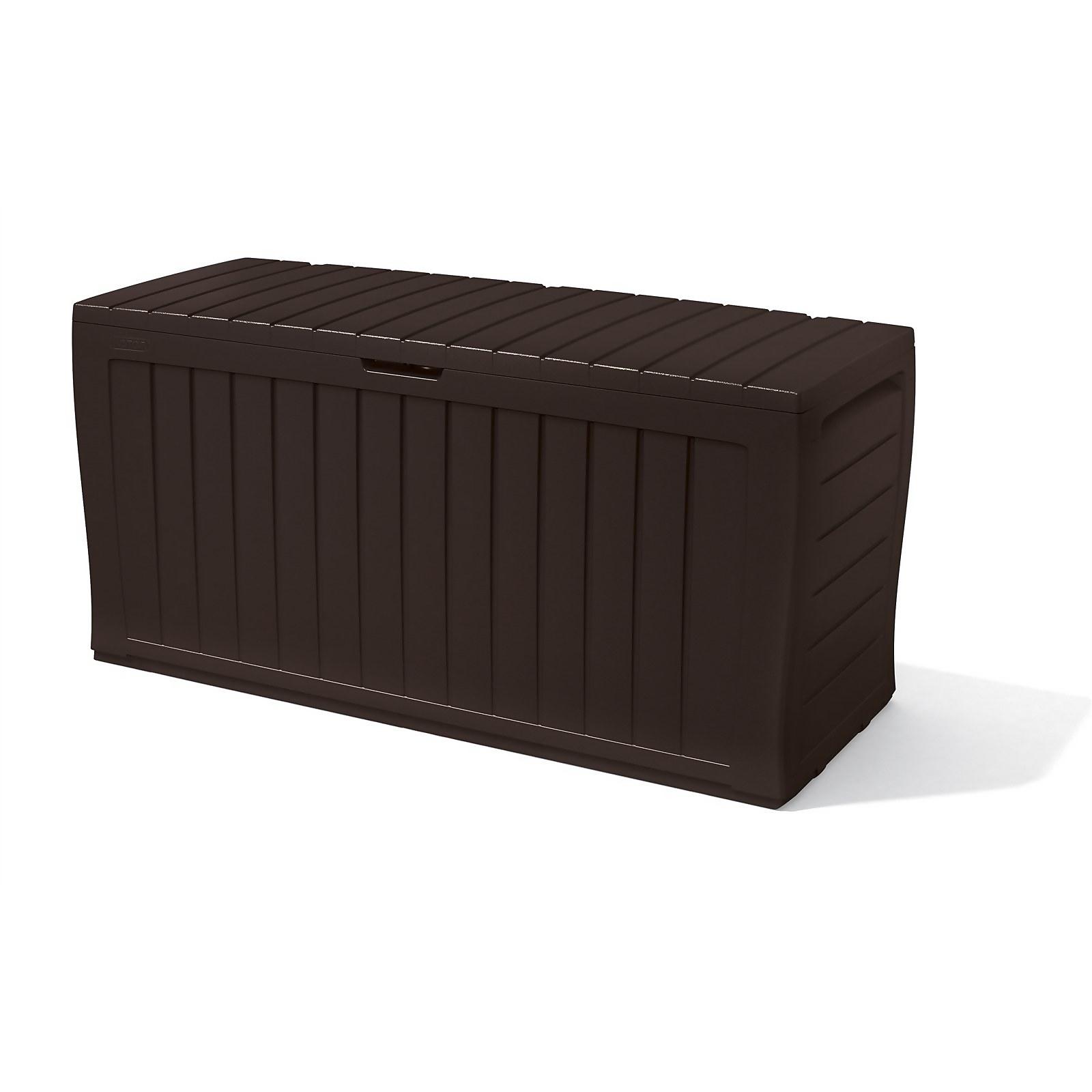 Keter Marvel Plus Outdoor Plastic Garden Storage Box 270L - Brown
