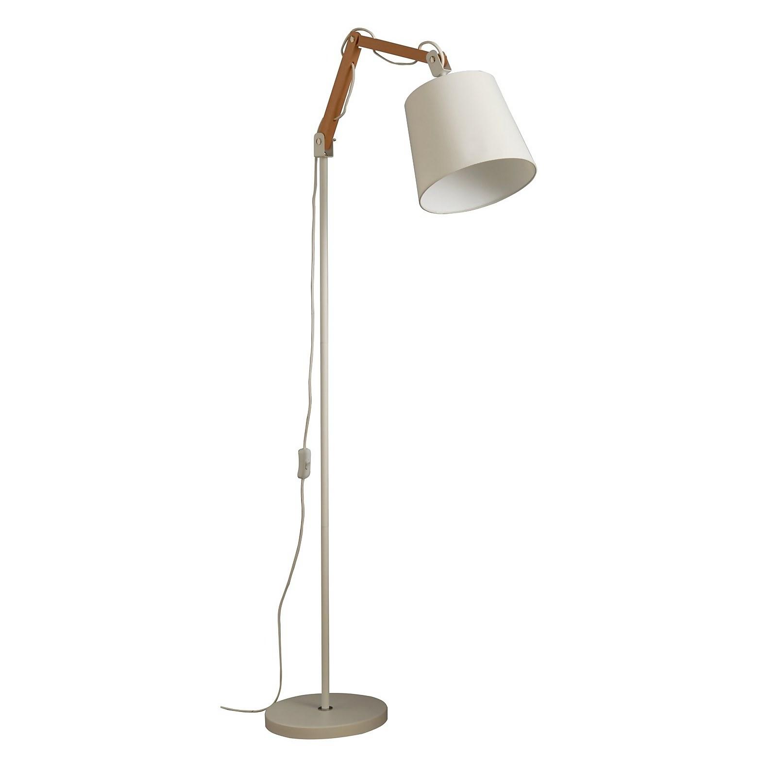 Caleb Floor Lamp - White
