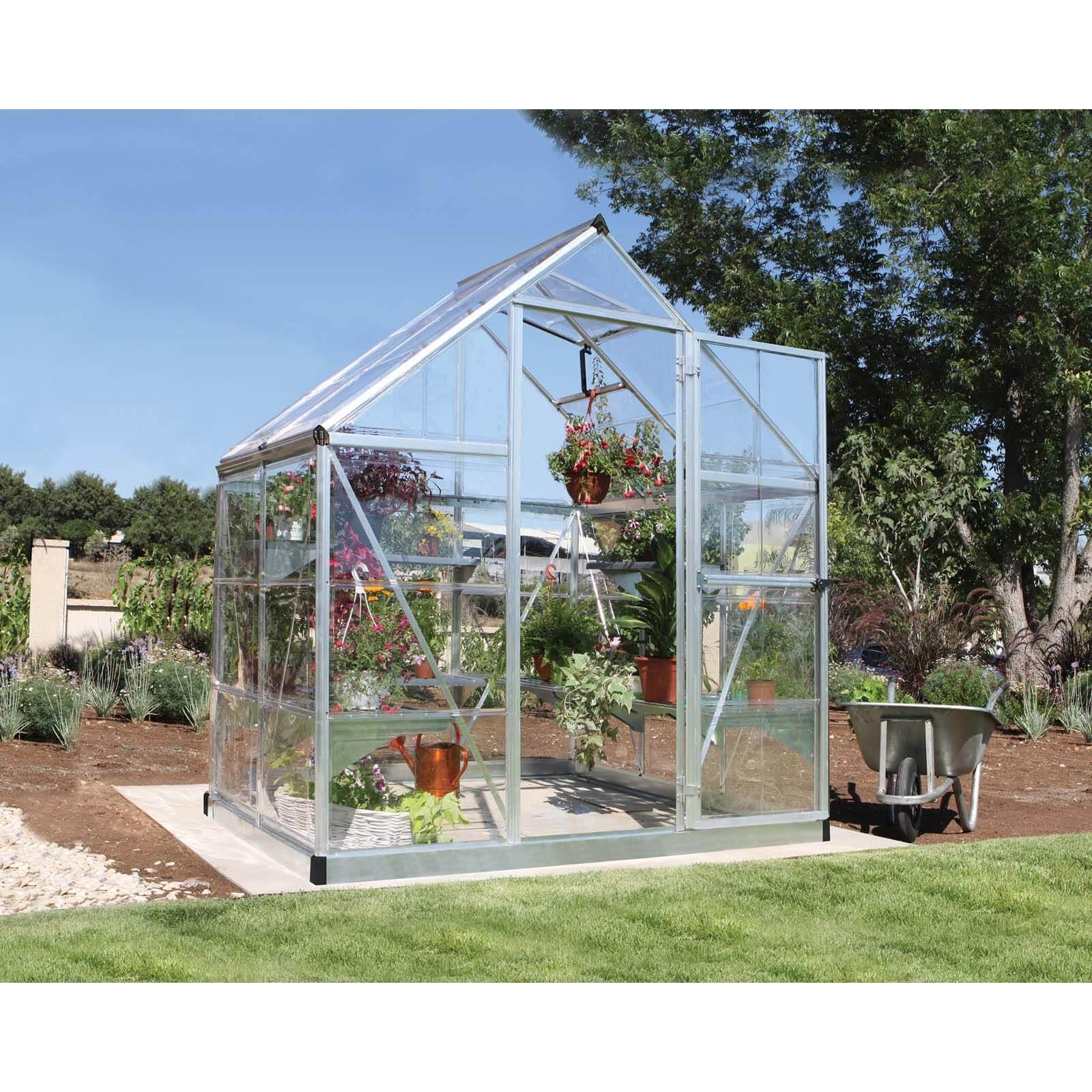 Palram Harmony Silver Greenhouse - 6 x 4 ft