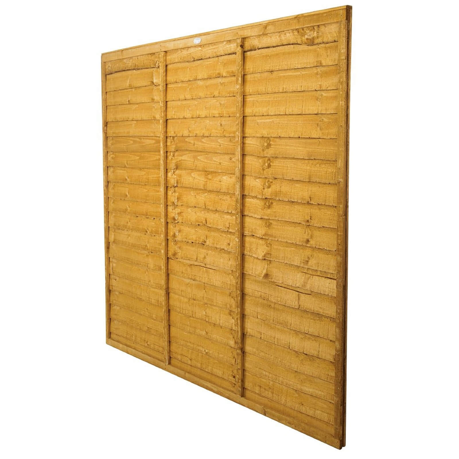 Forest Larchlap Lap 1.5m Fence Panel - Pack of 3