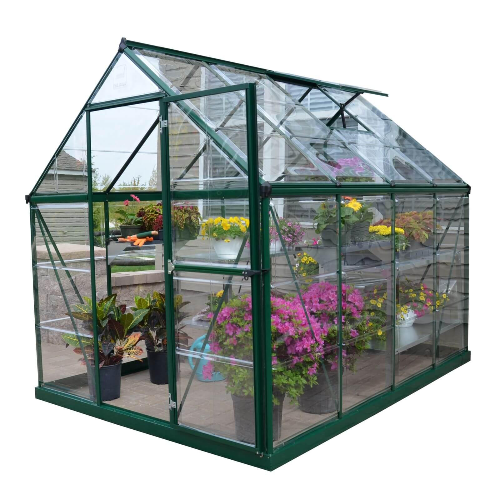 Palram Harmony Green Greenhouse - 6 x 8ft