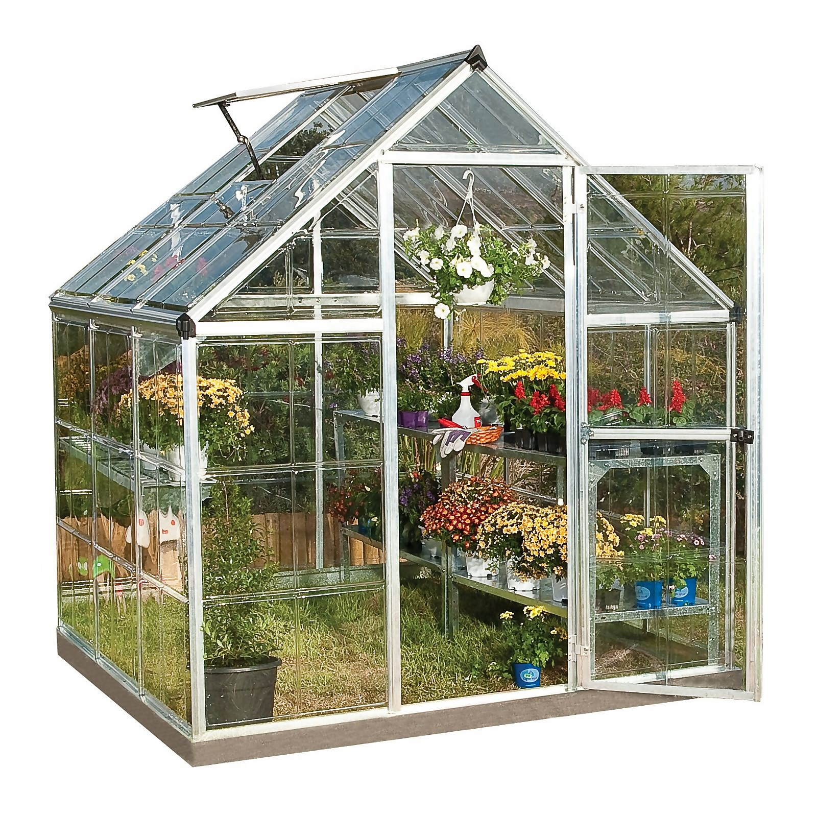 Palram Harmony Silver Greenhouse - 6 x 6ft