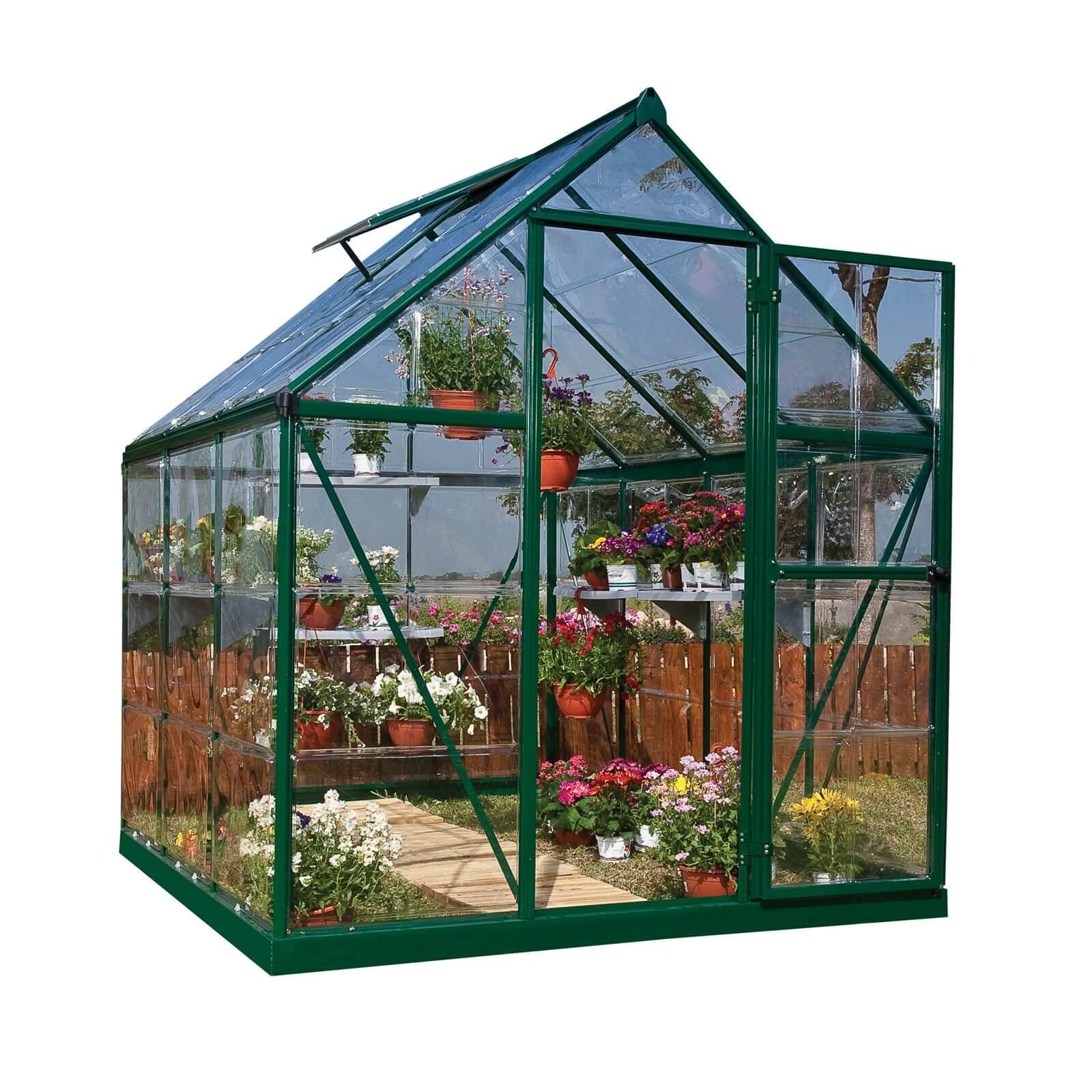 Palram Harmony Green Greenhouse - 6 x 6ft