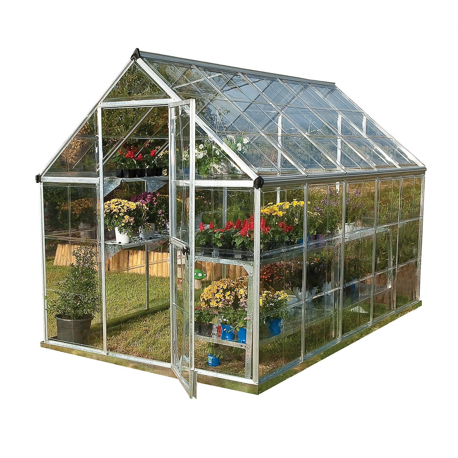 Palram Harmony Silver Greenhouse - 6 x 10ft