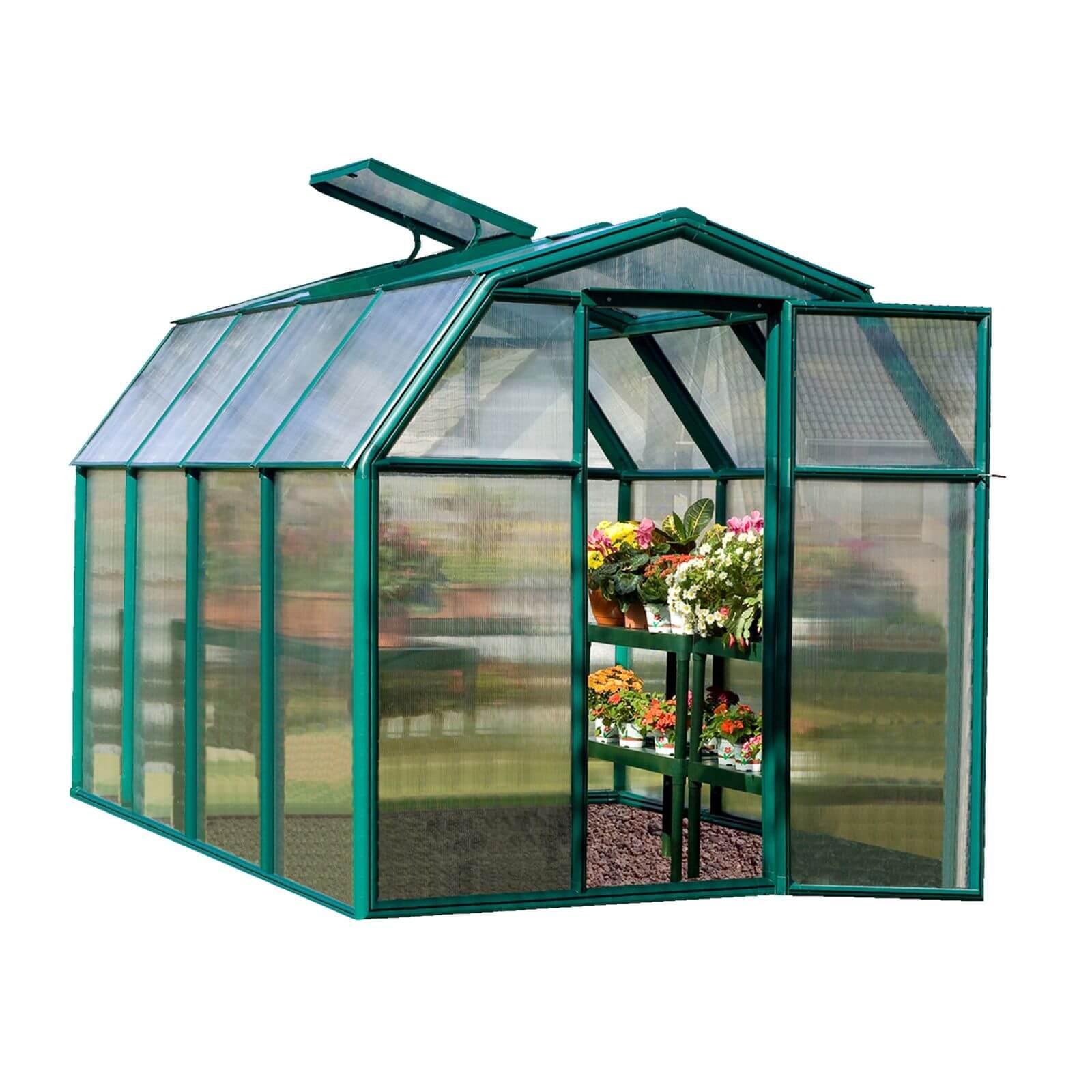 Palram - Canopia Eco Grow Greenhouse 6X8 Green