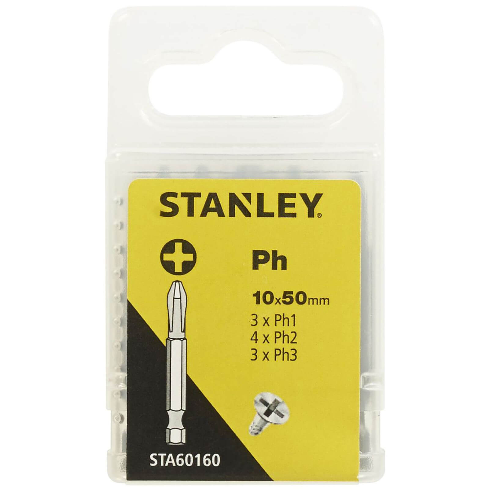 Stanley Fatmax 10Pc Mixed Philips 50mm - STA60160-XJ